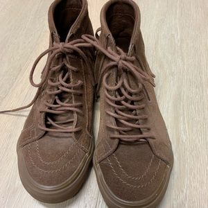 Vans high top moccasin sneakers
